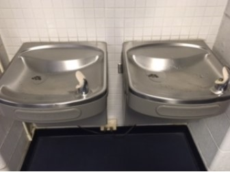 water fountain in school